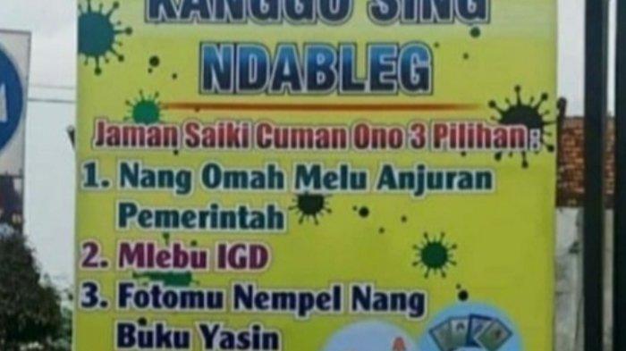 Papan 'Kanggo Sing Ndableg', Cara Polres Jember Putus Mata Rantai Corona