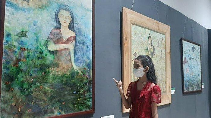Pelukis Muda Berbakat, Xylone Margareth Andariska Gelar Pameran Tunggal di Gresik