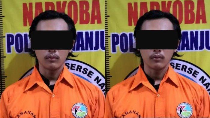 Simpan Sabu dalam Tas Selempang, Pria Nganjuk Ini Ditangkap Polisi di Teras Rumahnya