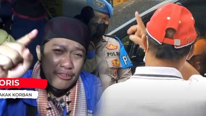 Yosep dan Yoris sama-sama melakukan gerakan tangan menunjuk saat ditanya soal pembunuhan ibu dan anak di Subang.