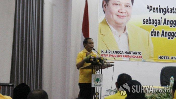 Zainudin Amali Minta Anggota Golkar se-Jatim Patuhi Partai: Terpilih Sebagai Dewan Karena Partai
