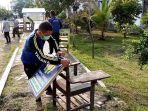 tagana-tulungagung-membongkar-shelter-tombo-kangen-di-rsdc-uin-tulungagung.jpg