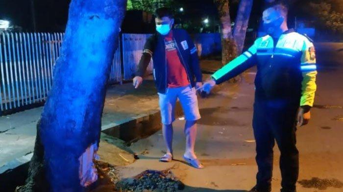 Ngebut, 2 Pemuda Tewas Tabrak Pohon Perindang di Jalan Pangeran Antasari, Tulungagung