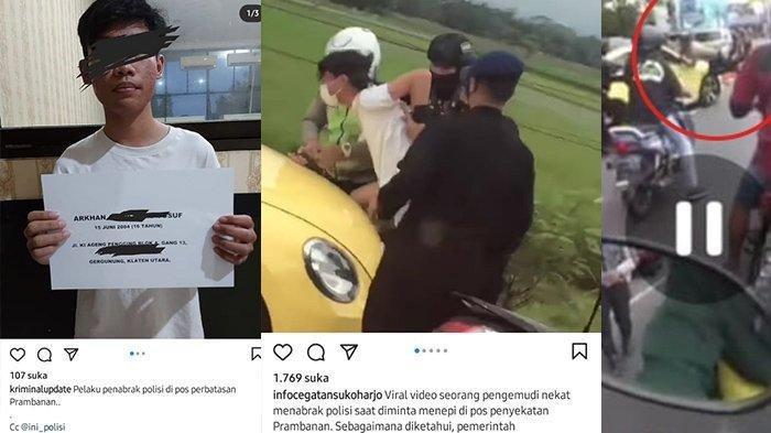 AADY pengemudi VW kuning yang tabrak polisi dan terobos penyekatan di Prambanan Klaten