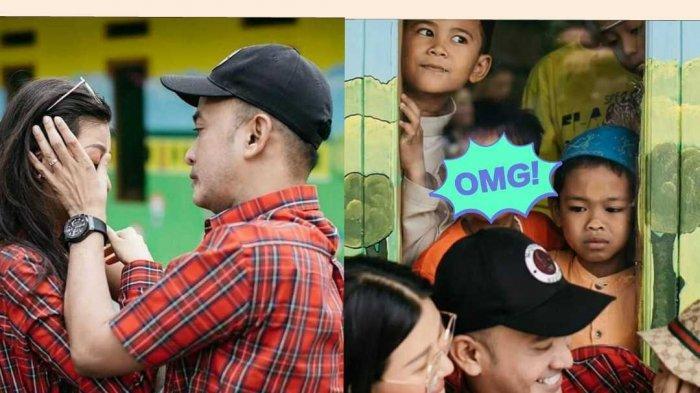 Adegan Romantis Ruben Onsu & Sarwendah Viral Akibat Ulah Bocah Mengintip, Wajahnya Bikin Salfok