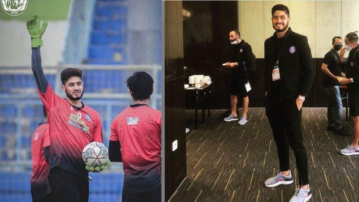 Kiper Arema FC, Adilson Maringa bisa mencatatkan sejarah sebagai kiper asing di Indonesia