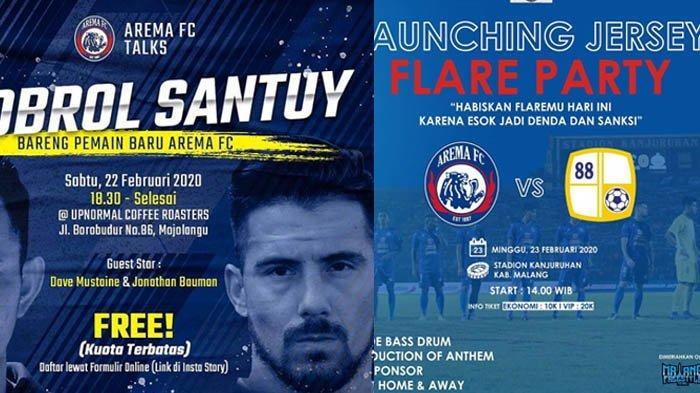 Agenda Arema FC Jelang Liga 1 2020, Meet & Greet Jonathan Bauman dan Laga Uji Coba Barito Putera