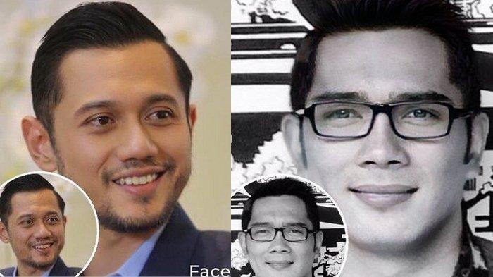 Tak Hanya Para Artis, AHY dan Ridwan Kamil Ikuti Foto Oplas Challenge, Lihat Beda & Cara Bikinnya