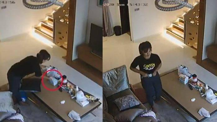 Kelakuan Jorok ART Terekam CCTV, Masukkan Masker Majikan ke Celana, Nyaris Ketahuan & Salah Tingkah