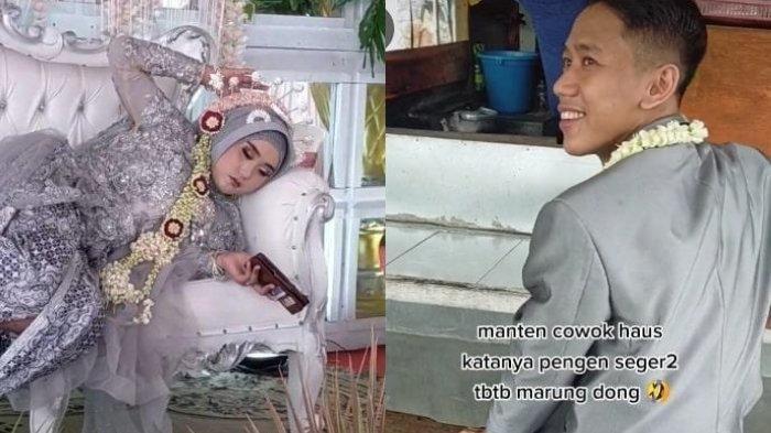 Aksi Santuy Pengantin di Sidoajo Viral, Suami Asyik Nongkrong di Warkop & Istri Rebahan di Pelaminan