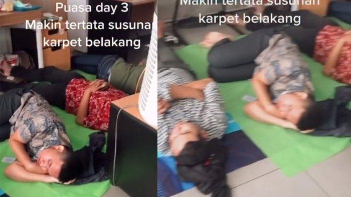 Aksi pegawai bebas tidur di kantor saat Ramadan jadi sorotan di TikTok
