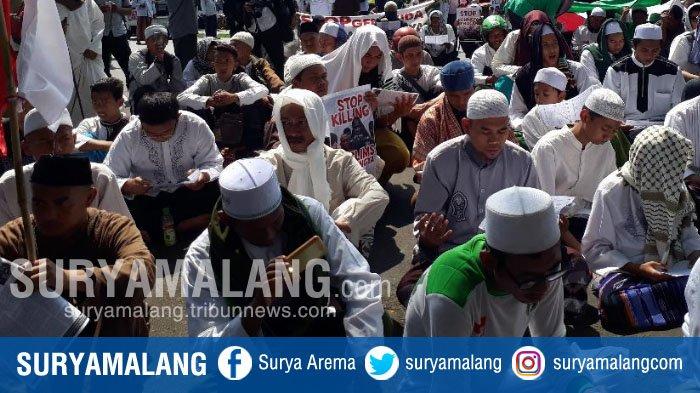 Ada Aksi Solidaritas Muslim Rohingya, Sementara Hindari Dulu Melintas di Bundaran Tugu, Kota Malang