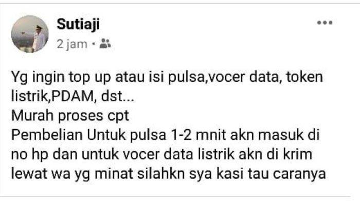 Penjelasan Pemkot Malang Terkait Akun FB Atas Nama Sutiaji Jualan Pulsa dan Voucher