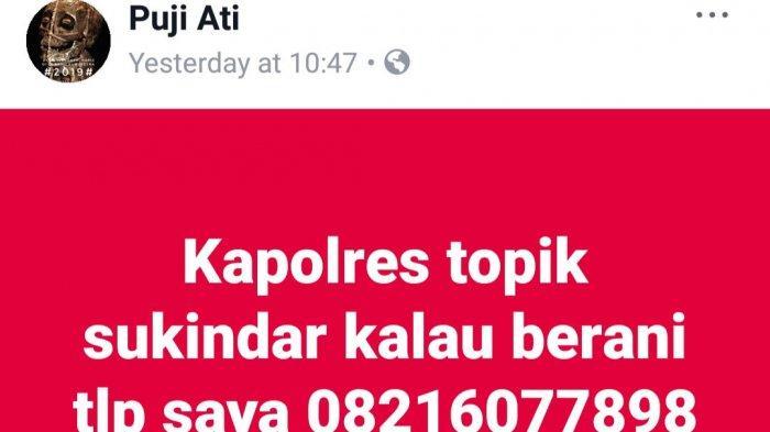 Inilah Sosok di Balik Akun Facebook Puji Ati, Penyebar Kebencian di Tulungagung