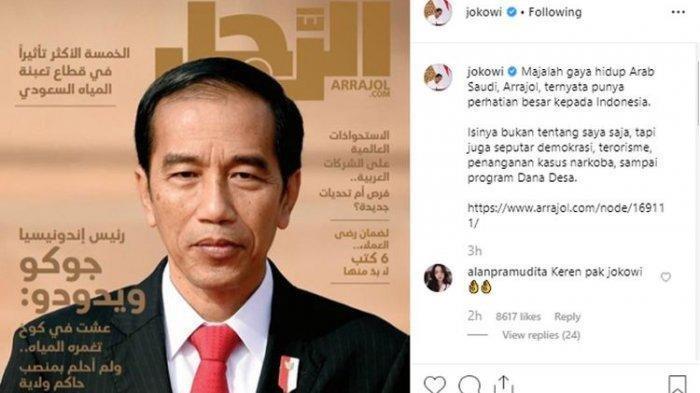 Jokowi Jadi Model Sampul Majalah Terkenal di Arab, Kisah Gaya Hidupnya Dikupas Hingga 14 Halaman