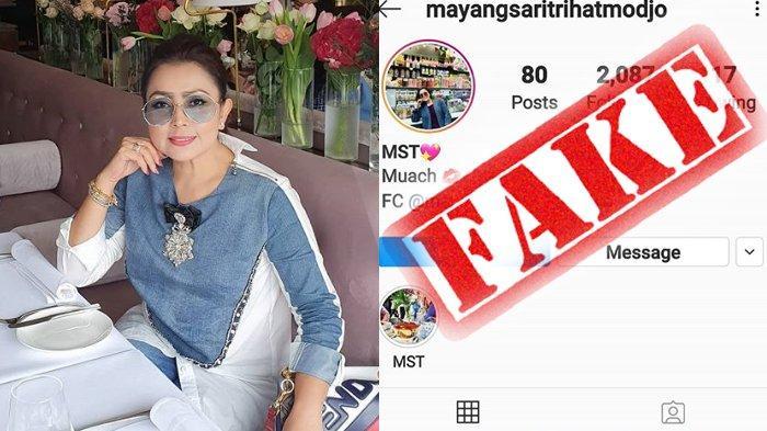 Akun Instagram Mayangsari Dijiplak Orang, Istri Bambang Trihatmodjo Marah Tahu Isinya: Totaly Fake