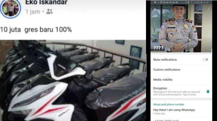 Waspada Bila Berteman Akun FB Eko Iskandar, Nama Kasatlantas Polres Pasuruan Dicatut untuk Penipuan