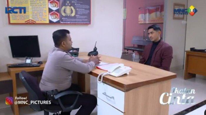 Aldebaran berada di kantor polisi adegan sinetron Ikatan Cinta Selasa 27 Juli 2021