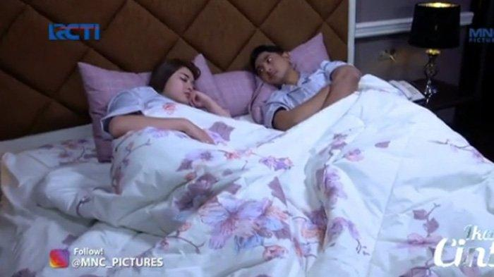 Aldebaran memperhatikan Andin sedang tidur adegan sinetron Ikatan Cinta Senin 2 Agustus 2021
