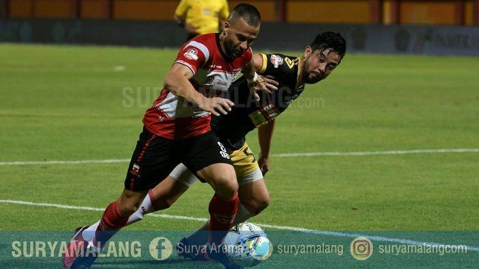Hasil Skor Madura United Vs Perseru Badak Lampung Adalah 1-0 di Babak Pertama, Rakic Buka Kemenangan