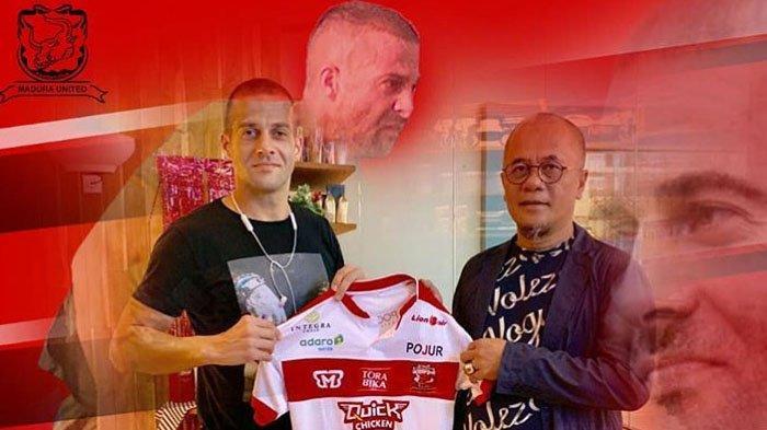 Aleksandar Rakic Dibawa ke Rumah Sakit Karena Cedera saat Laga Persela Vs Madura United
