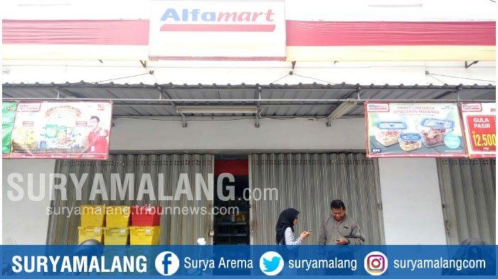 Alfamart di Mergan Sukun Malang Dibobol Pencuri, Pelaku Terekam CCTV