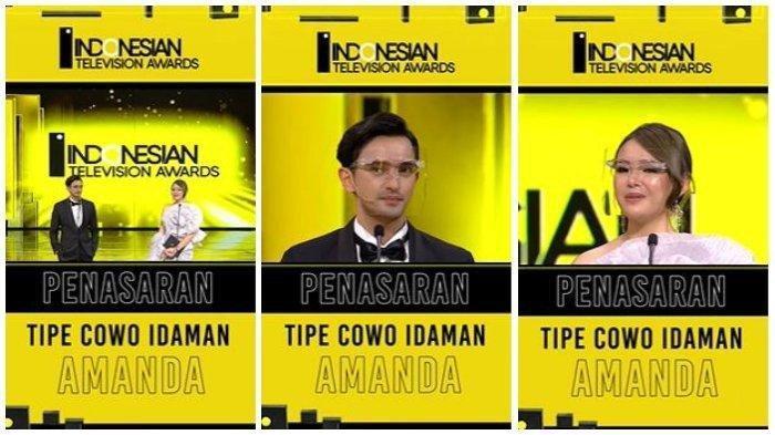 Amanda Manopo di ajang Indonesian Television Awards 2021