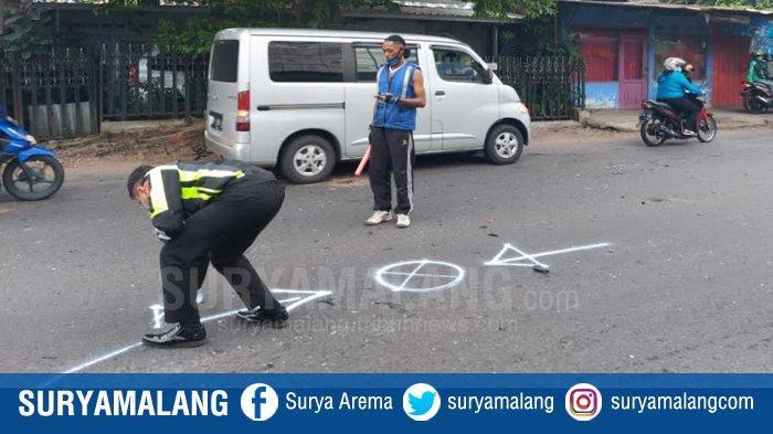 Tabrakan Keras Honda Beat Vs CB 150 di Sukun Kota Malang, 4 Orang Dilarikan ke Rumah Sakit