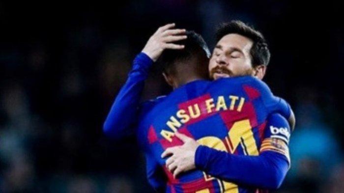 Ansu Fati dan Lionel Messi