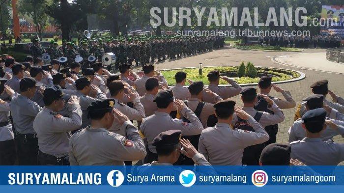 Jelang Pemilu 2019, TNI/Polri dan Pemkot Malang Gelar Apel Pasukan
