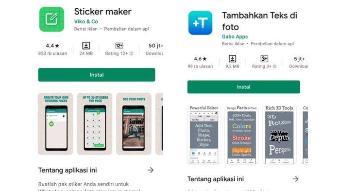 Aplikasi bantuan untuk membuat stiker WhatsApp