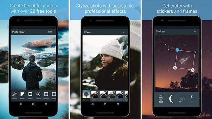 Daftar 9 Aplikasi Edit Foto Terlengkap Untuk Android, Mengubah Gradien, Kolase dan 100 Efek Berbeda