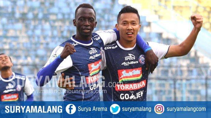 Hasil Skor Akhir Arema FC vs Barito Putera Sabtu 24 November 2018 di Babak Pertama adalah 2-0
