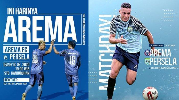 Link Live Streaming Arema FC VS Persela, Piala Gubernur Jatim di MNCTV Pukul 18.30, Prediksi Pemain