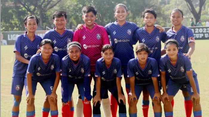 Para Pemain Arema FC Women di turnamen Women Open Sriwijaya FC Championship 2021