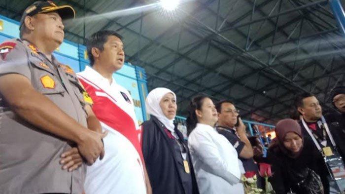 Arema FC Vs Persebaya - Reaksi Histeris Khofifah dan Puan Maharani di Stadion Kanjuruhan