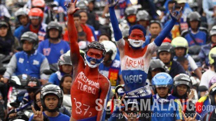 Aremania dan Aremanita Dilarang Konvoi saat Perayaan Ultah Arema FC ke-34, Ini Pesan Juragan 99