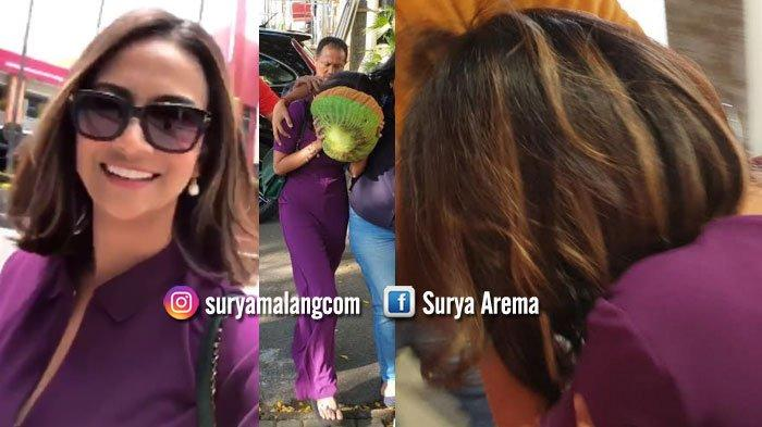 VIDEO - Baju Ungu Vanessa Angel Sebelum dan Setelah Tertangkap di Hotel Area Surabaya