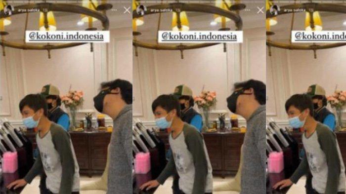 Arya Saloka promosi bisnis barunya Kokoni Indonesia di lokasi syuting Ikatan Cinta