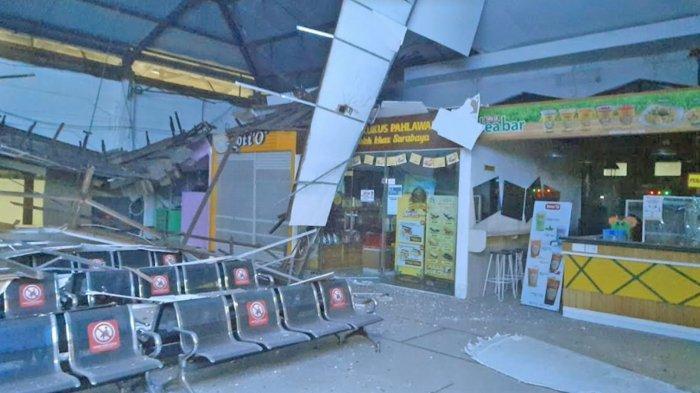 Atap Ruang Tunggu Stasiun Pasar Turi Surabaya Ambruk, PT KAI Sebut Tak Ada Korban yang Tertimpa