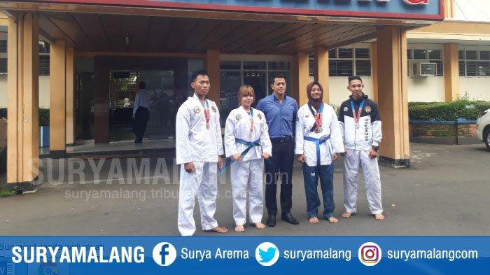 Lima Mahasiswa ITN Malang Raup Lima Medali Di Kejuaraan Taekwondo