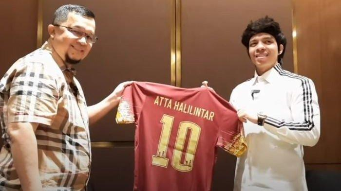 Atta Halilintar bertemu Presiden Sriwijaya FC, Hendri Zainudin di Jakarta, Rabu 5 Juni 2021