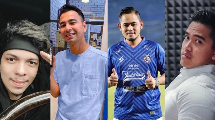 Atta Halilintar, Raffi Ahmad, Gilang Widya Pramana, Kaesang Pangarep.