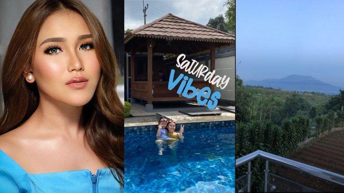 5 Foto Isi Villa Ayu Ting Ting di Puncak Bogor, Bergaya Modern, Kolam Renang Mewah & Panorama Gunung