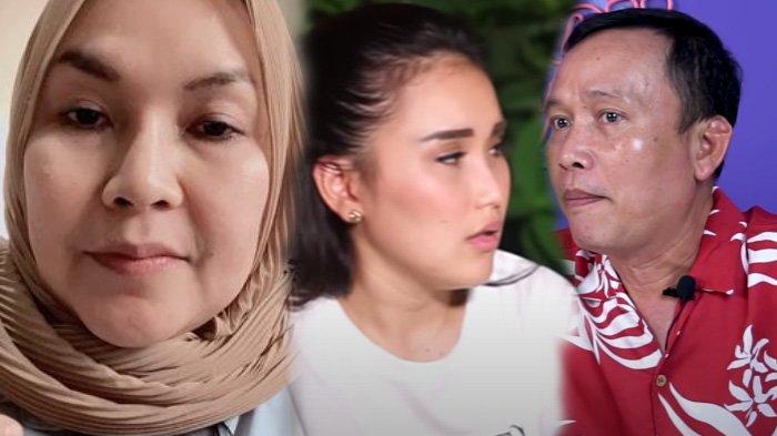 Ayu Ting Ting (tengah) tak terima dengan perlakuan Umi Kalsum (kiri) dan Abdul Rozak (kanan)