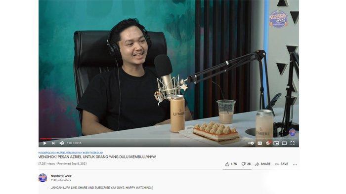 Azriel Hermansyah ngobrol di podcast kenang masa-masa SMA
