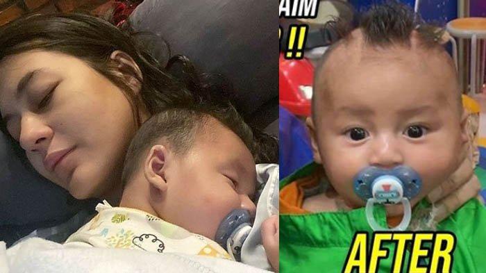 Baim Wong Sukses Bikin Paula Verheoven Nangis Saat Lihat Potongan Rambut Kiano, Dibentuk Mirip Nanas