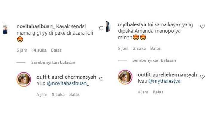 Balasan akun fashion Aurel menjawab rasa penasaran netizen
