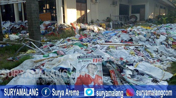 Bawaslu Surabaya Pertimbangkan Pemanfaatan 8.500 Baliho APK Hasil Sitaan Sebagai Bahan Kerajinan