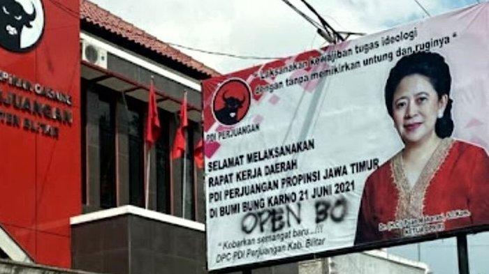 Baliho Gambar Puan Maharani Dicoret Open BO, Begini Sikap PDIP Jatim